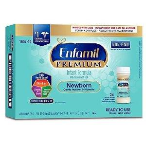 $16Enfamil Newborn PREMIUM Non-GMO Infant Formula 20 Calorie, 6 Count (Pack of 4)