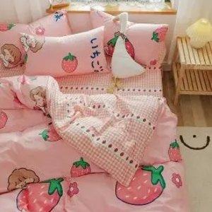 €28收三件套 水果系列超甜超甜软萌床品3件套 高颜值可爱甜美风 一秒打造小仙女的家