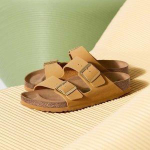 Birkenstock36-42码拿铁色双带拖鞋