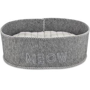 Harmony Grey Felt Cat Bed