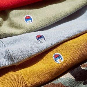 低至$22.5一件 + 包邮Champion 精选男女款卫衣等促销