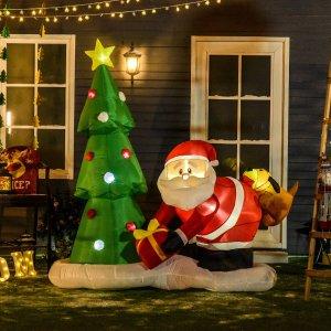 低至4.4折+额外8.5折圣诞节各类圣诞饰品热促 一起来装扮温馨小屋迎接圣诞老人吧