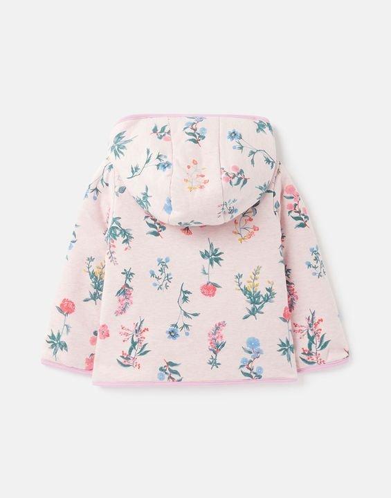 女婴两面穿连帽外套