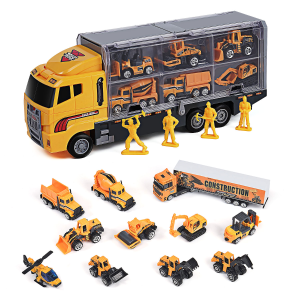 $10.99 (Was$43.99)Toy Truck Toys for Boys and Girls Toy Cars 11 in 1 Engineering Construction Car