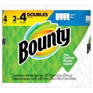 Bounty满$15赠$5RewardSelect-A-Size 厨房纸2卷装