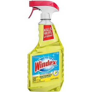 Windex Multi-Surface Cleaner and Disinfectant Spray Bottle, Scent, Citrus Fresh, 23 Fl Oz