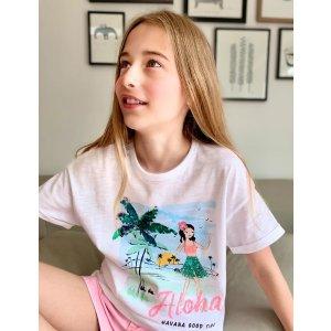 Pure Cotton Aloha Sequin T-Shirt (6-16 Yrs)