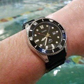 40.59(原价$87)Casio 卡西欧男士潜水腕表 MDV106-1A