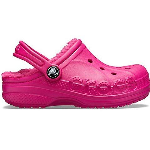 $13.49 (原价$44.99)Crocs 加绒儿童洞洞鞋  断码低价速抢