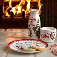 Disney 米奇图案牛奶瓶+杯子+餐盘