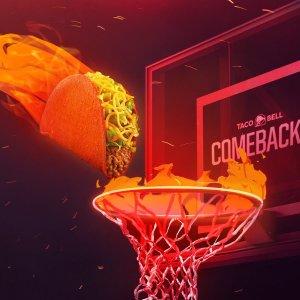 免费领取热辣Doritos Taco限今天:Tacobell 篮球联赛NBA限时活动