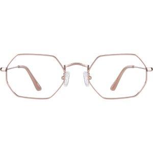 Rose Gold Geometric Glasses #158519 | Zenni Optical Eyeglasses