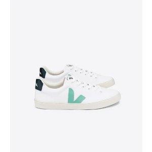 Veja薄荷绿小白鞋