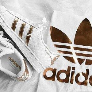 正价7折adidas 贝壳头、Continental 80等小白鞋热卖