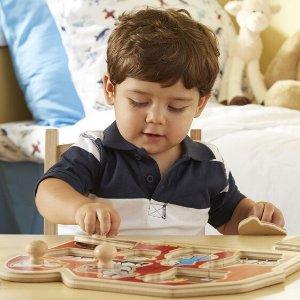 买1件,第2件5折Melissa and Doug 儿童拼图玩具特卖 让宝宝自娱自乐吧