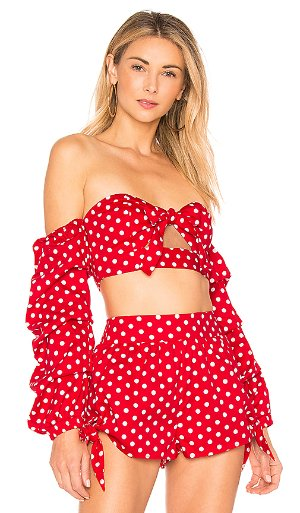 MAJORELLE Pepper Top in Polka Dot | REVOLVE