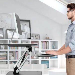 $119(原价$199)Ergolux 站立式办公桌 黑白双色,高矮可调