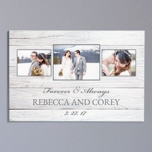 Personalized Forever and Always Photo 20x30 Wall Canvas