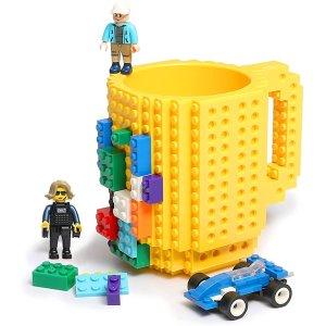$13.99(原价$16.99)DIY 积木咖啡马克杯 乐高爱好者选择 不含BPA食品级塑料