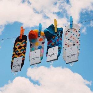 8.5折+免邮独家:Happy Socks官网 全场袜子、内衣热卖