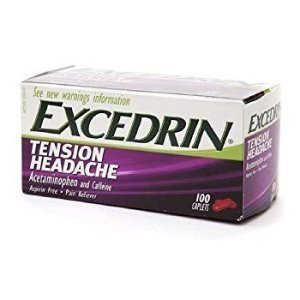 Amazon.com: Excedrin Tension Headache Aspirin-Free Caplets for Head, Neck, and Shoulder Pain Relief, 100 count: Gateway