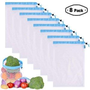 $18.95(原价$19.95)PrettyCare 环保抽绳收纳袋8个装 大中小号可选