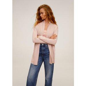 MangoRibbed detail cardigan - Women | OUTLET USA