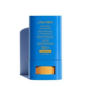 Shiseido无色透明膏体、清透不油腻新艳阳果冻防晒棒SPF 50+