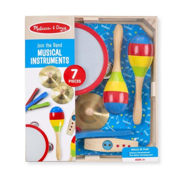 木质乐器玩具7件套