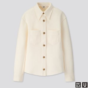 WOMEN U JERSEY DOUBLE POCKET LONG-SLEEVE SHIRT | UNIQLO US