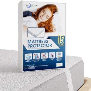 5.9折 单人床尺寸折后仅€11.19Dreamzie 防水床垫保护套 透气不透水 60度机洗超方便