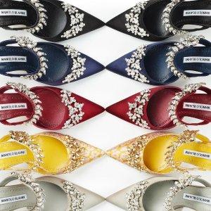 低至7折 水晶方扣鞋$700+Manolo Blahnik 鞋中贵族 纯手工打造 好莱坞女星御用品牌