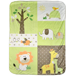 Small Wonders Jungle Print Valboa Blanket @ Sears.com