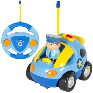 Last Day: 2 Channel Kids Remote Control Cartoon Police Car w/ Sounds and Music