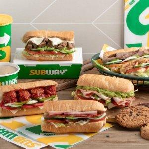 满$15免费送餐从UberEATS上点Subway外卖