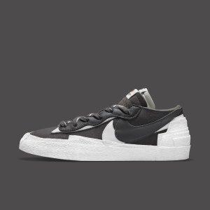 定价$160上新:Nike Blazer Low x sacai 两款全新配色 Snkrs已上架