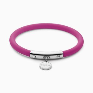 SkagenBlakely Pink Silicone and Silver-Tone Bracelet