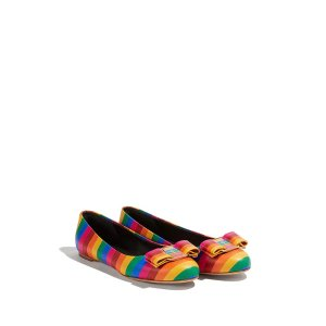 Salvatore Ferragamo彩虹芭蕾鞋