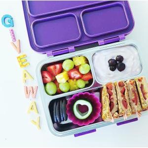 $29.99(原价$49.99)SkyeBox 不锈钢防漏三格午餐盒 安全放心材质  好清洗