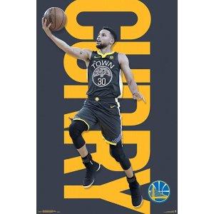 Trends InternationalGolden State Warriors-Stephen Curry Mount Bundle Wall Poster, 22.375