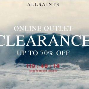 低至3折 皮衣$299起折扣升级:Allsaints US官网 折扣区精选男女服饰配饰热卖