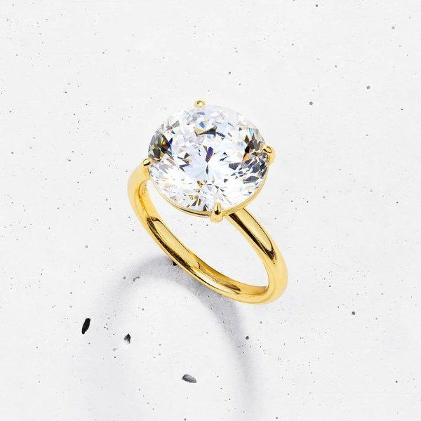 单颗金色戒指