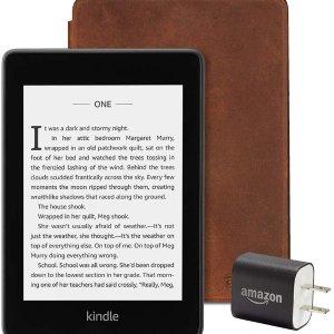 $184.97(原价$239.97)Kindle Paperwhite 8GB 套装 包含电子书 皮套 充电适配器