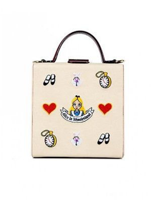 HIGH CHEEKS Alice Pattern Colorblock Trunk Bag