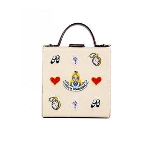HIGH CHEEKS Alice Pattern Colorblock Trunk Bag