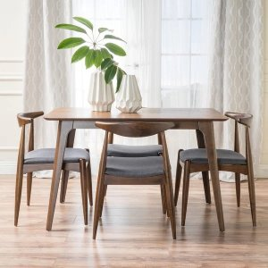 Christopher Knight HomeFrancie 5-piece Mid-century Dining Set by Christopher Knight Home - Charcoal