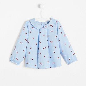JacadiToddler girl blouse with ladybug motif