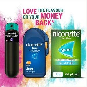 210颗折后€51 可叠加9折Nicorette 戒烟口香糖 含2mg替代微量尼古丁 想抽烟时来一颗