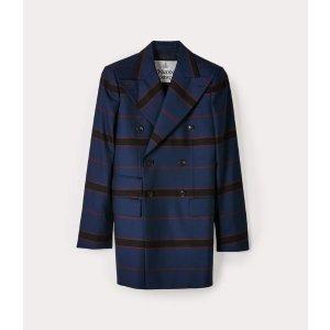 Vivienne Westwood38/40/42/46码100%初剪羊毛条纹休闲西装外套