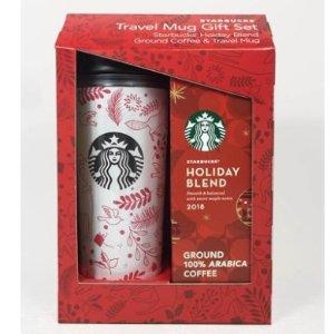 Starbucks旅行咖啡杯+节日咖啡套装